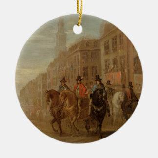 Restoration Procession of Charles II at Cheapside, Round Ceramic Decoration