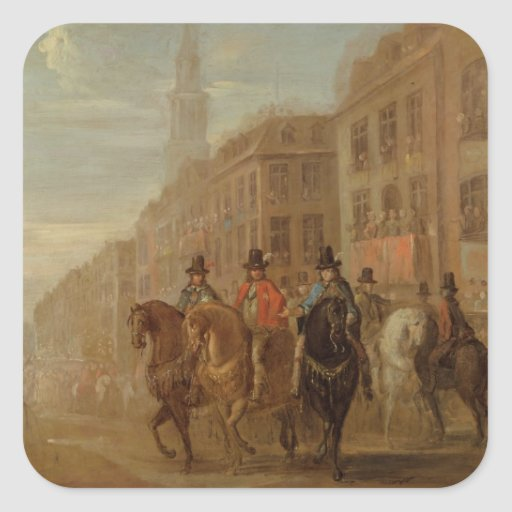 Restoration Procession of Charles II at Cheapside, Stickers