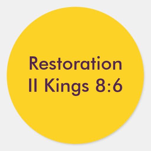 Restoration Sticker