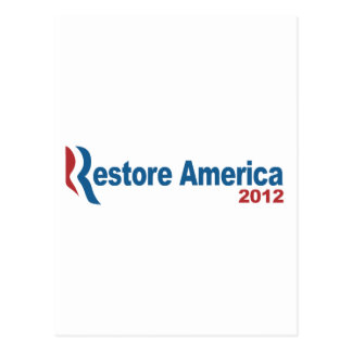 Restore America 2012 Postcard