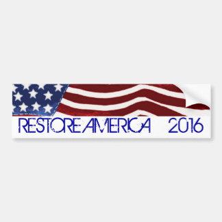 RESTORE AMERICA 2016 Old Glory Bumper Sticke4 Bumper Sticker