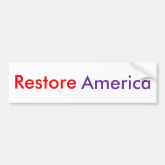 Restore America Bumper Sticker