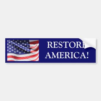 RESTORE AMERICA! Bumper Sticker