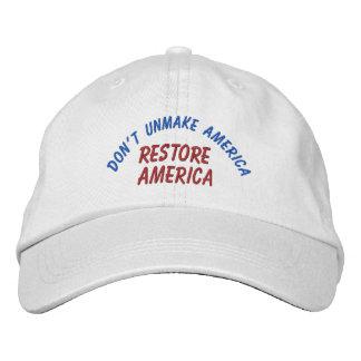 Restore America Embroidered Hat