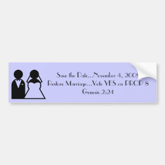RESTORE MARRIAGE BUMPER STICKER