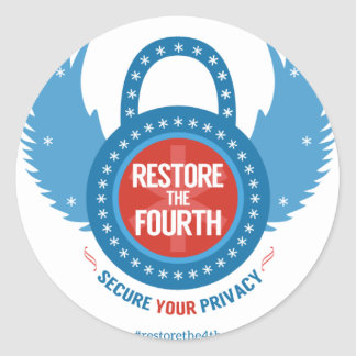 Restore the 4th Swag Classic Round Sticker