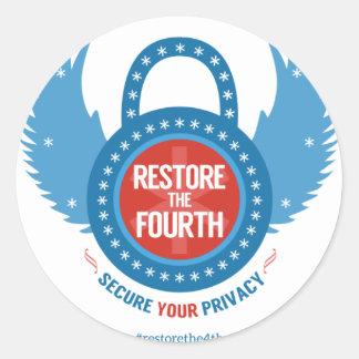 Restore the 4th Swag Round Sticker