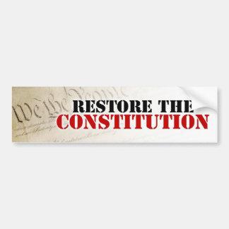 Restore the Constitution Bumper Sticker