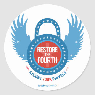 Restore The Fourth... Classic Round Sticker