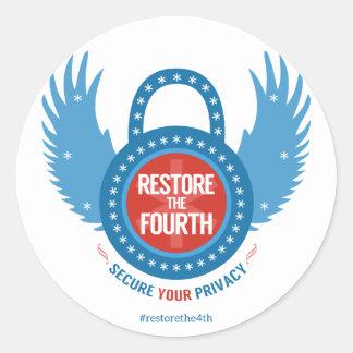 Restore The Fourth... Round Sticker