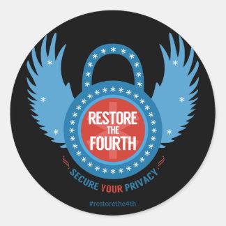 Restore The Fourth Round Stickers