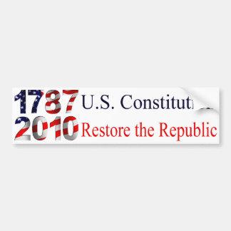 Restore the Republic bumper sticker