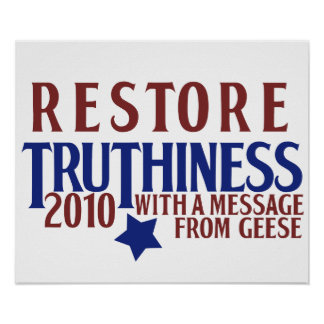 Restore Truthiness Print