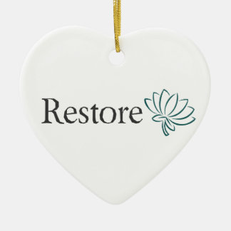 Restore with Lotus Ceramic Heart Decoration