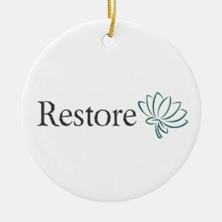 Restore with Lotus Round Ceramic Decoration