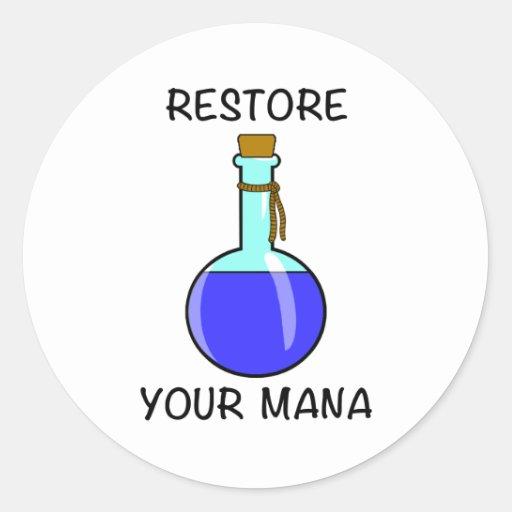 Restore Your Mana Sticker