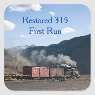 Restored 315 First Run Square Sticker