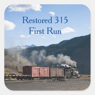 Restored 315 First Run Square Sticker