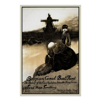 Restored Belgian Canal Boat Fund Print
