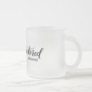Restored Custom Frosted Glass Coffee Mug