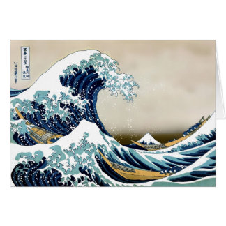 Restored Great Wave off Kanagawa by Hokusai Card