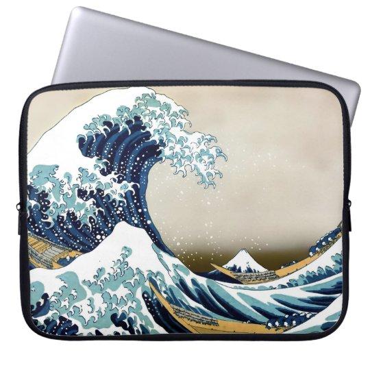 Restored Great Wave off Kanagawa by Hokusai Laptop