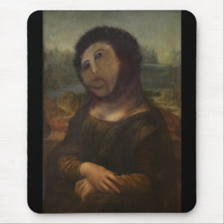 restored Mona Lisa Mouse Pad