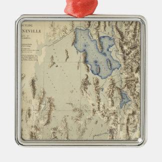 Restored Outline of Lake Bonneville Christmas Ornament