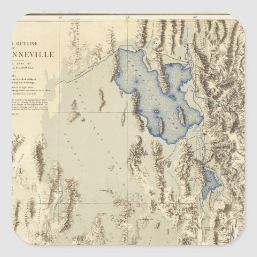 Restored Outline of Lake Bonneville Sticker