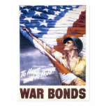 """RESTORED """"To have and to hold"""" war bonds WWII Postcard"""