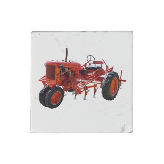 Restored Tractor Stone Magnet