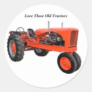Restored Vintage Tractor Round Sticker
