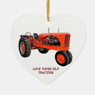 Restored Vintage Tractors Ceramic Heart Decoration