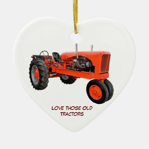 Restored Vintage Tractors Christmas Tree Ornaments