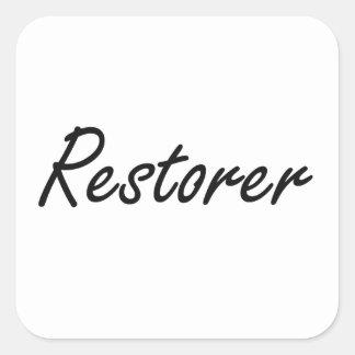 Restorer Artistic Job Design Square Sticker