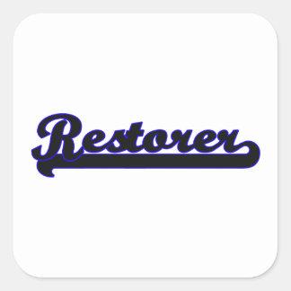 Restorer Classic Job Design Square Sticker