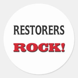 Restorers Rock Round Sticker