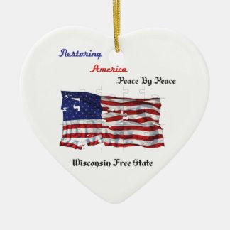 Restoring America - The Republic Ceramic Heart Decoration