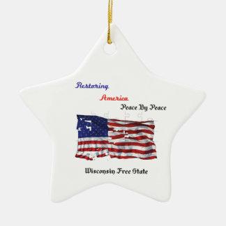 Restoring America - The Republic Ceramic Star Decoration