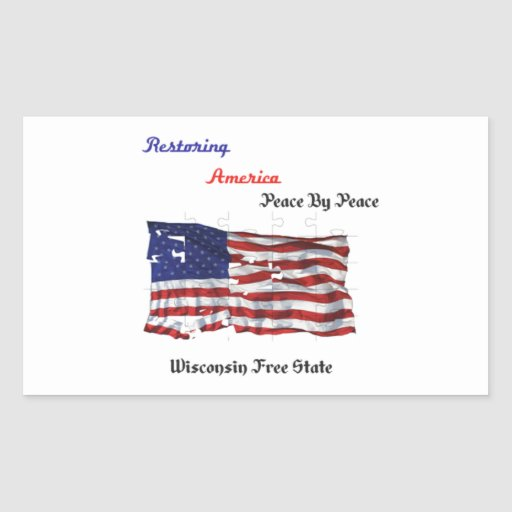 Restoring America - The Republic Rectangular Sticker