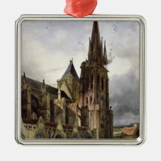 Restoring the Abbey Church of St. Denis in 1833 Christmas Ornament