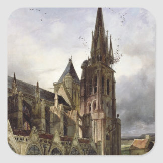 Restoring the Abbey Church of St. Denis in 1833 Square Sticker