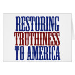 Restoring Truthiness to America Note Card