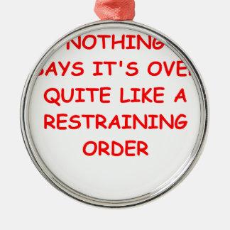 restraining order christmas ornament