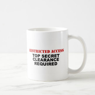 Restricted Access Classic White Coffee Mug