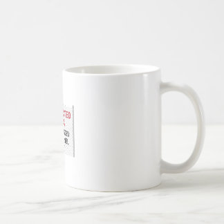 RESTRICTED AREA CLASSIC WHITE COFFEE MUG