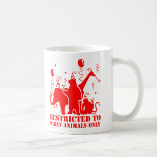 Restricted to party animals only coffee mug