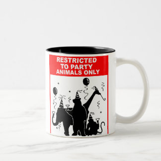 Restricted to party animals only Two-Tone coffee mug