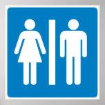 Restroom Facilities Highway Sign