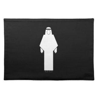 Restroom Men Sign, Qatar Placemat